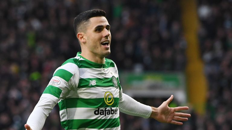 Tom Rogic has three goals and four assists in all competitions for Celtic this season