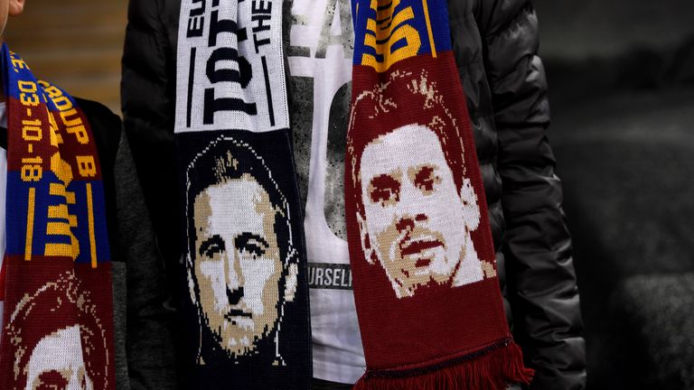 Half and half scarves at Wembely