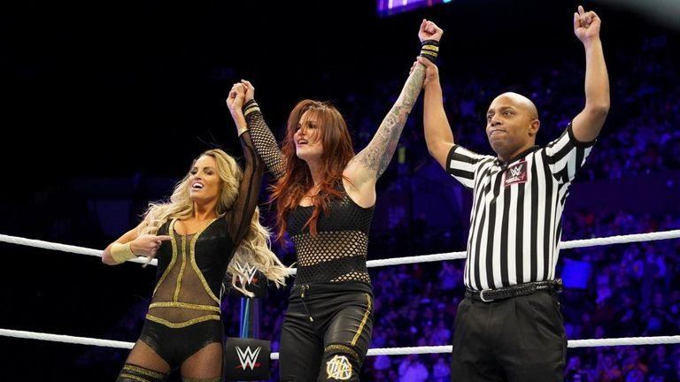 Trish Stratus and Lita kicked the event off with a win over Mickie James and Alicia Fox