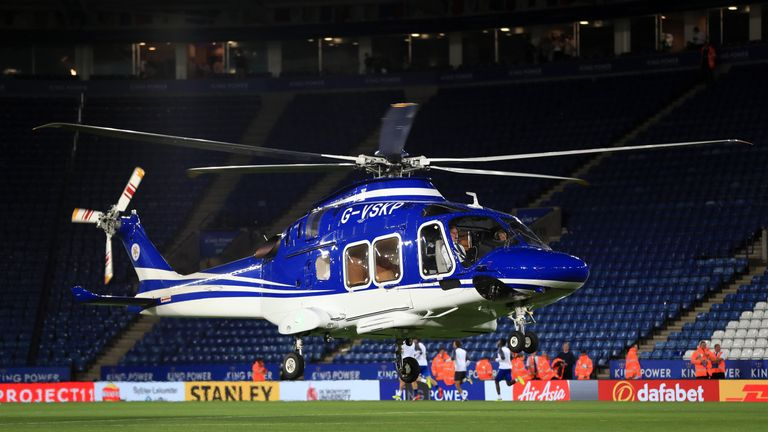 Vichai Srivaddhanaprabha's helicopter crashed shortly after taking off from the King Power pitch