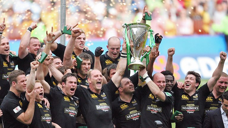 Wasps celebrate winning the Heineken Cup in 2007