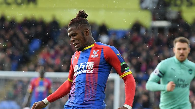 Wilfried Zaha suffered abuse after being awarded a penalty against Arsenal