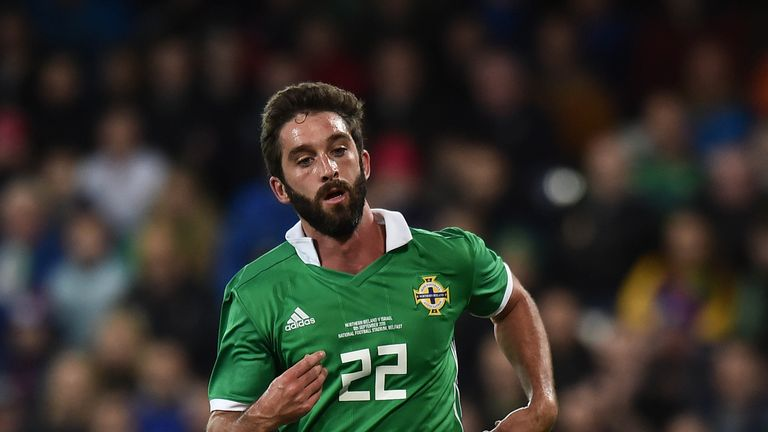 Will Grigg played the final 11 minutes of Northern Ireland's 1-0 loss in Austria