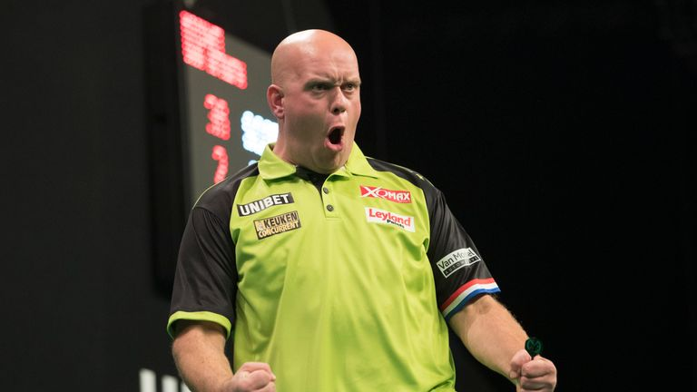 Van Gerwen is likely to face either Lewis or Van Barneveld in a potential last-16 banana skin