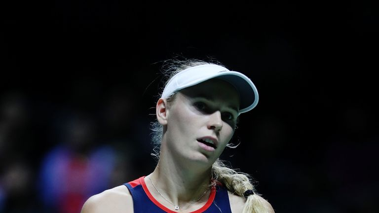 Caroline Wozniacki is the top-seeded player in Shanghai in the absence of world No 1 Simona Halep