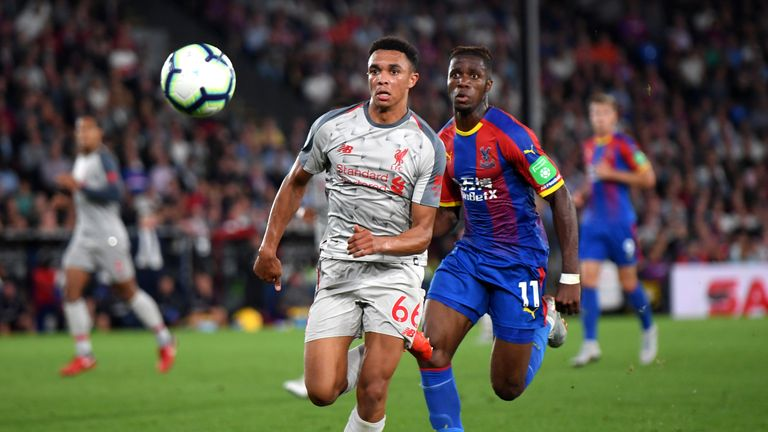 Trent Alexander-Arnold helped Liverpool to a 2-0 Premier League victory against Crystal Palace earlier this season