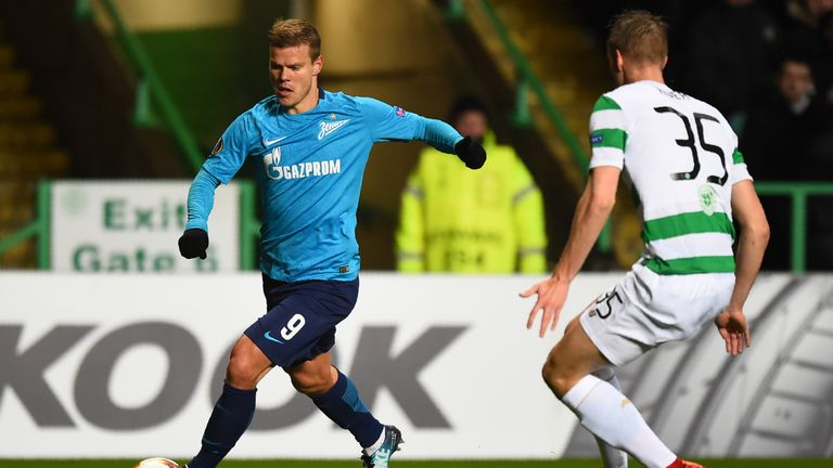Kokorin helped Zenit knock Celtic out of the Europa League in February 2018