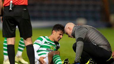 Daniel Arzani was injured in Celtic's 5-0 thrashing of Dundee