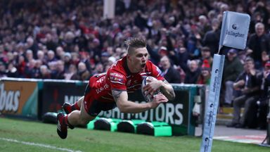 Jason Woodward was among the try scorers as Gloucester overcame Leicester on Friday