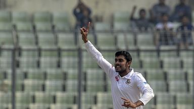 Mehedi Hasan took five wickets for Bangladesh in their win over Zimbabwe