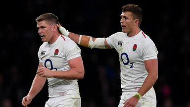 Owen Farrell (left), Henry Slade (right) and Ben Youngs each showed variation in their kicking displays against the All Blacks