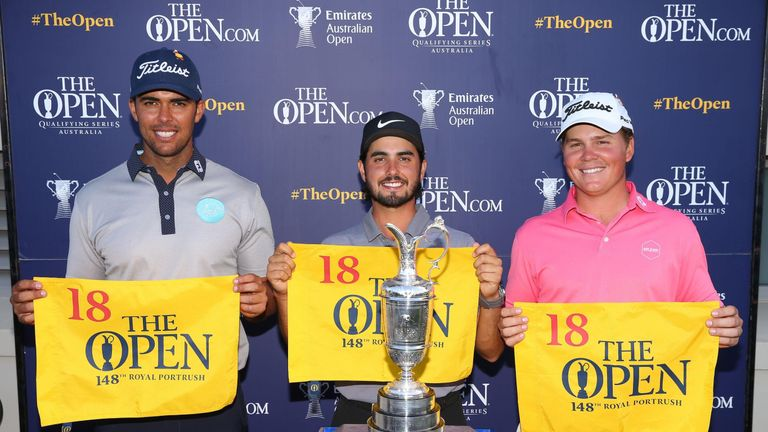 Ancer, Dimitrios Papadatos and Jake McCleod all qualified for The Open