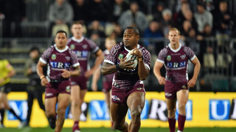 Uate scored 129 appearances in 200 appearances in the NRL