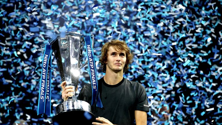 Alexander Zverev won the biggest title of his career at the ATP Finals in London