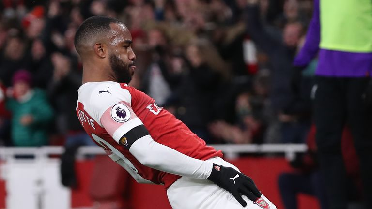Alexandre Lacazette won a point for Arsenal against Liverpool