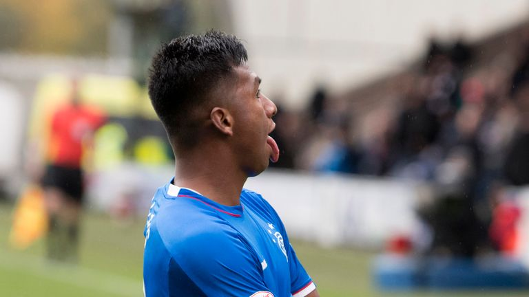 Alfredo Morelos was struck by a coin three days after Lennon following his winner for Rangers at St Mirren