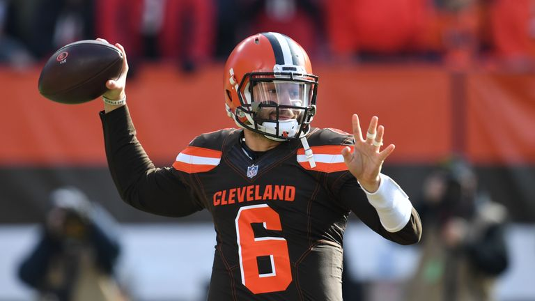 Quarterback Baker Mayfield has been on fire in Cleveland's latest wins, throwing for eight touchdowns and no interceptions