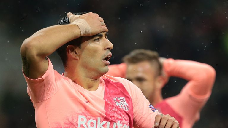 Luis Suarez missed a host of chances at the San Siro