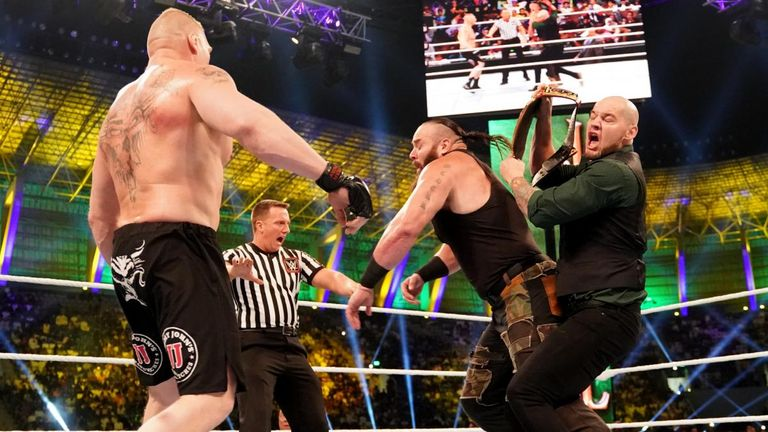 Braun Strowman has been keen to face Baron Corbin after he cost him the Universal title at Crown Jewel