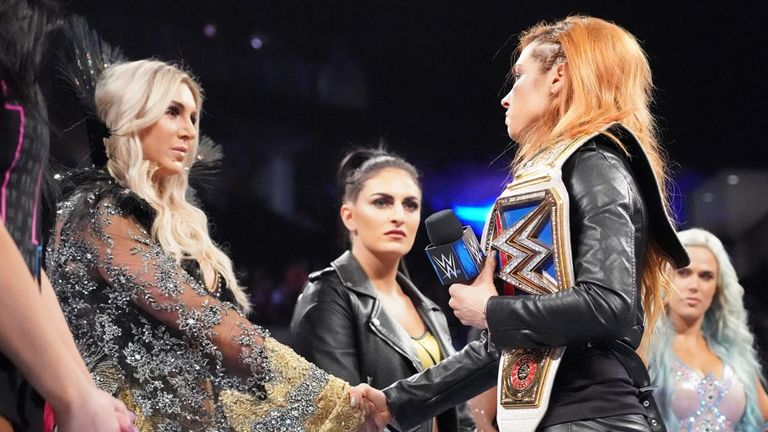 Becky Lynch selected old enemy Charlotte Flair as her replacement to face Ronda Rousey