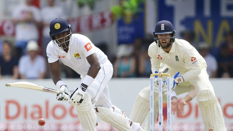 Foakes took two catches and a stumping on day two in Galle