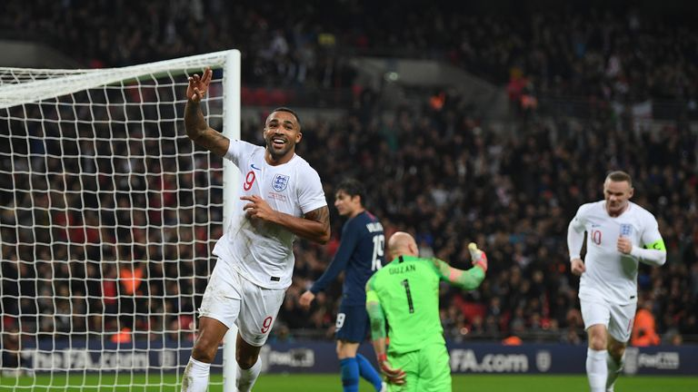 Callum Wilson scored on his England debut in November