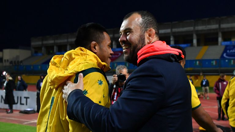 The victory was a pressure-relieving won for Wallabies head coach Michael Cheika