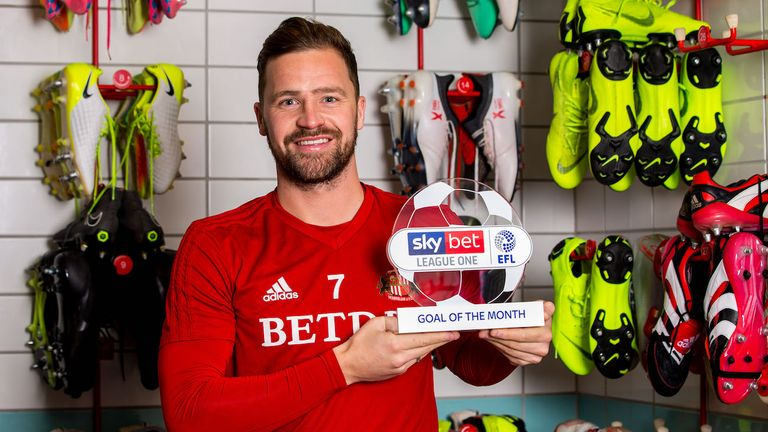Chris Maguire of Sunderland wins the Sky Bet League One Goal of the Month award for November