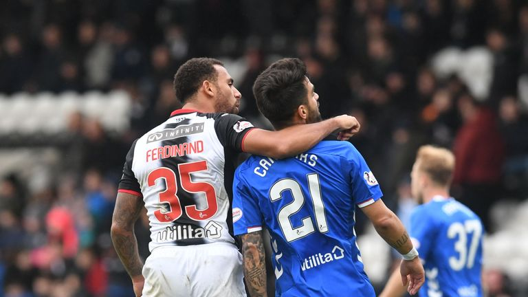 Candeias clashed with Anton Ferdinand before being sent-off
