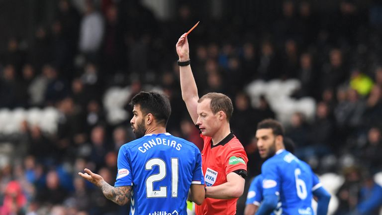 The appeal against Candeais' second yellow-card has been dismissed by the SFA