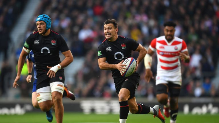Danny Care during the Quilter International match between England and Japan at Twickenham Stadium on November 17, 2018 in London, United Kingdom.
