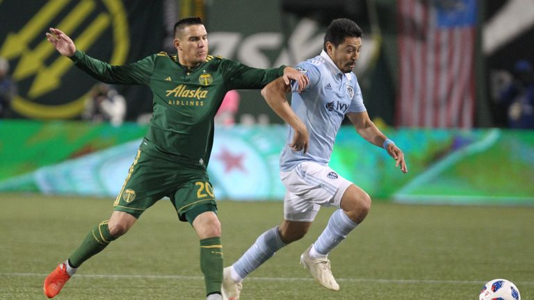 David Guzman (left) saw a goal ruled out for offside