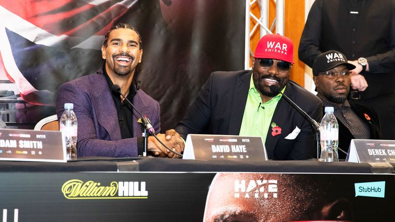 David Haye is now guiding Chisora's career after retiring from boxing