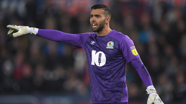 Blackburn goalkeeper David Raya may be forced to wear a face mask