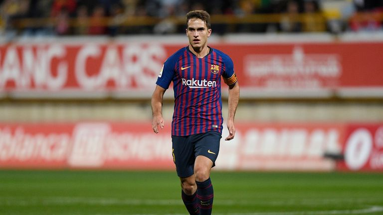 Denis Suarez in action during the Copa del Rey match between Cultural Leonesa and Barcelona