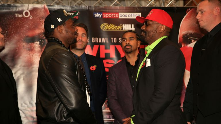 Whyte resumes his rivalry with Dereck Chisora in a rematch on December 22, live on Sky Sports Box Office