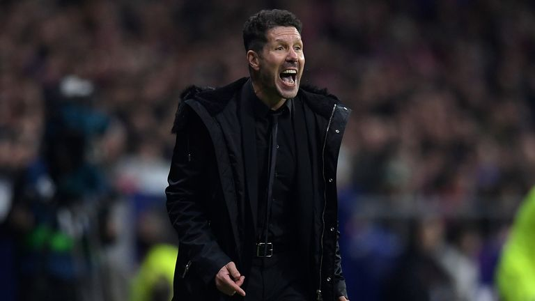 Atletico Madrid boss Diego Simeone has defending his tactics against Barcelona