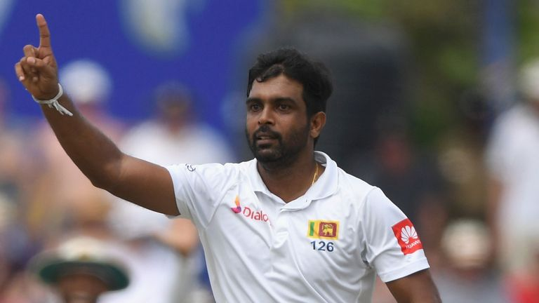 Sri Lanka's Dilruwan Perera picked up the wickets of Moeen Ali and Ben Stokes