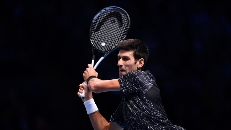Novak Djokovic has won his 17th match in 19 encounters against Marin Cilic