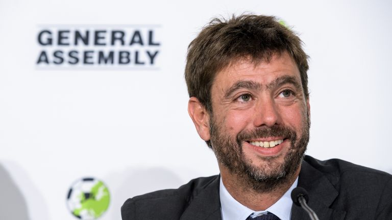 Andrea Agnelli is the chairman of both Juventus and the ECA