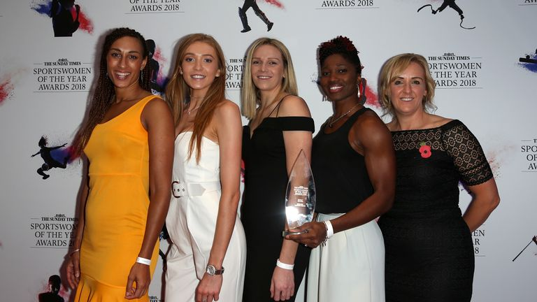 England Netball were named team of the year at the Sportswomen awawrds