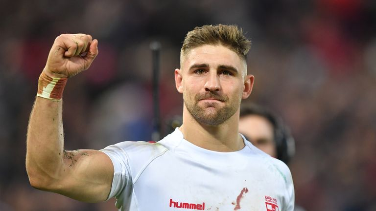 England's Tommy Makinson after the win over New Zealand at Anfield