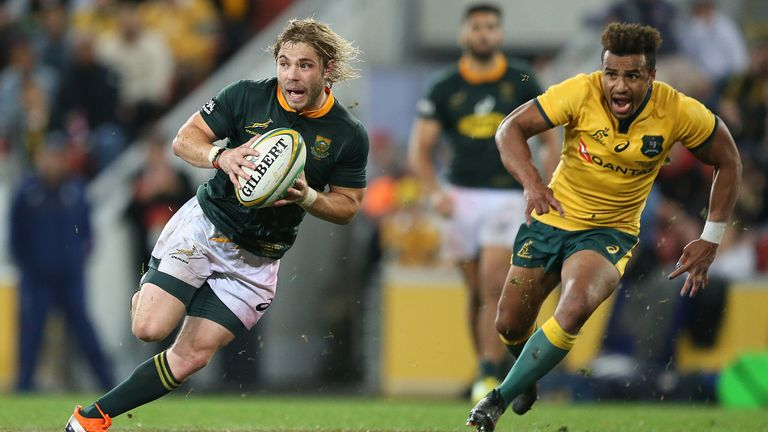 Faf de Klerk played in 10 Tests in 2018 after Erasmus convinced SA Rugby to relax its 30-Test cap policy