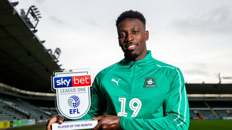 Freddie Ladapo will look to spearhead Plymouth to victory