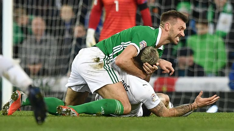 McAuley featured for Northern Ireland in the 2018/19 Nations League