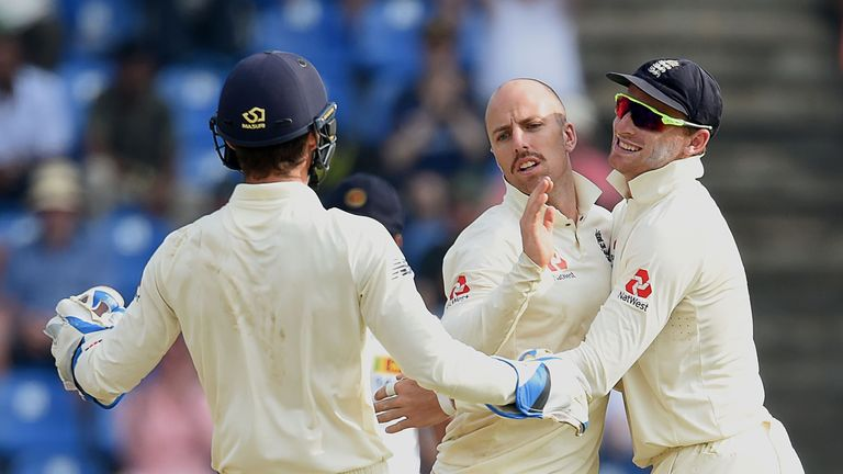 Jack Leach, England, Kandy, Test cricket