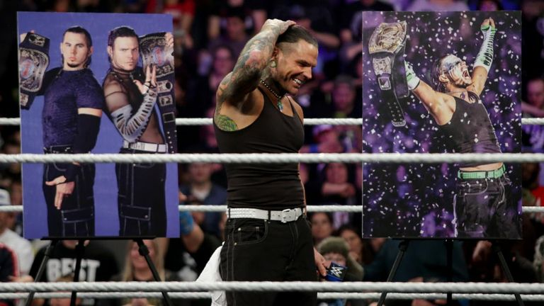The celebration of Jeff Hardy's 20-year career was interrupted by Samoa Joe