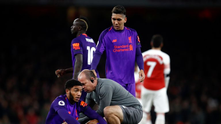 Joe Gomez will be hoping to recover from an Achilles issue and make the senior England squad