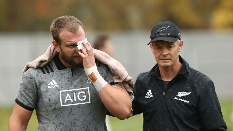 Moody suffered the injury during an All Blacks training session