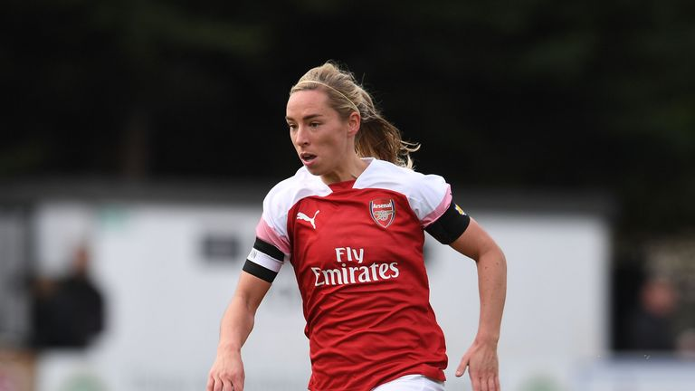 Nobbs tore her ACL in Arsenal's WSL win against Everton in November